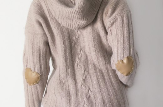 DIY Heart Elbow Patch Sweater