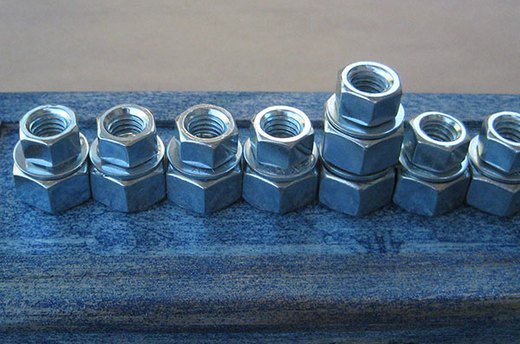 Glue Second Row of Hex Nuts