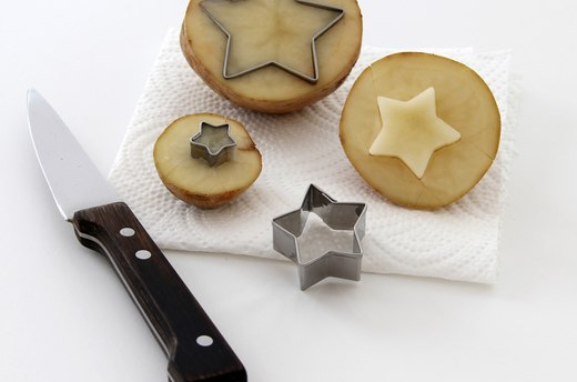 Carve the Potato Stamps