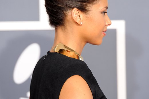 Alicia Keys' Braided Updo