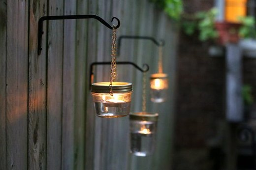 Add Mood Lighting with Mason Jars