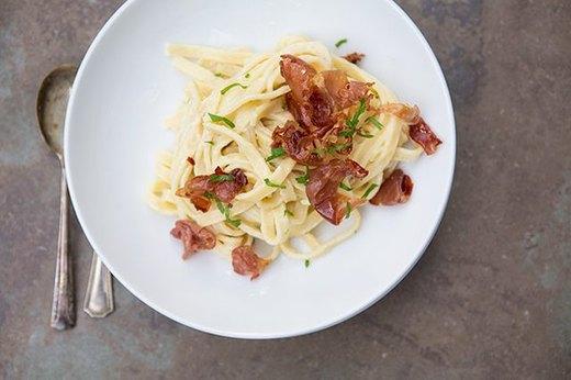 Prosciutto Carbonara Pasta