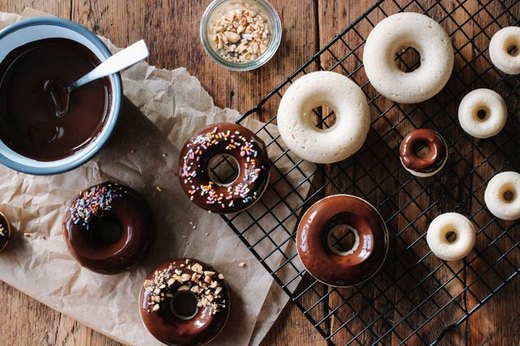 Baked Chocolate Glazed Doughnuts