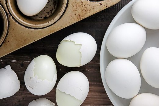 14 - Cook Hard Boiled Eggs in a Muffin Pan