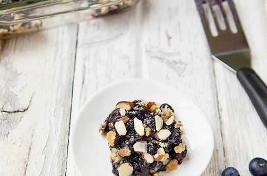 Coconut Almond Blueberry Crumb Bars