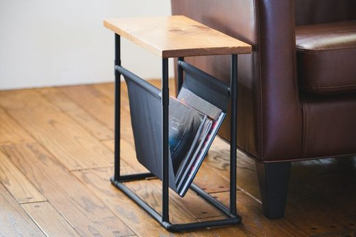 Side Table and Magazine Holder