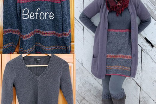 Repurpose Sweaters Into a Dress