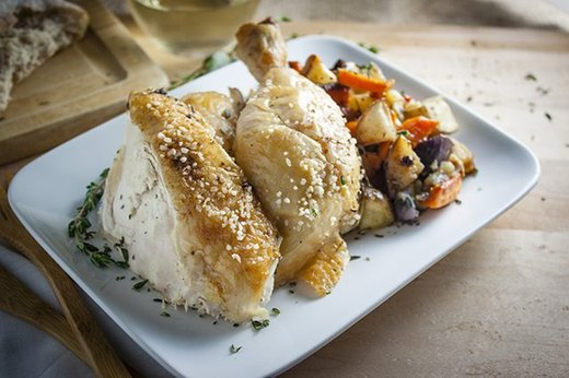 One-Pot Meal: Simple Roasted Chicken and Root Vegetables