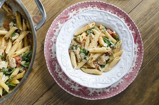 Chicken and Spinach Skillet Pasta