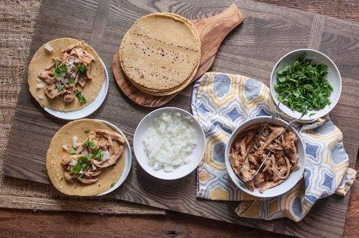 Simple Shredded Chicken Tacos
