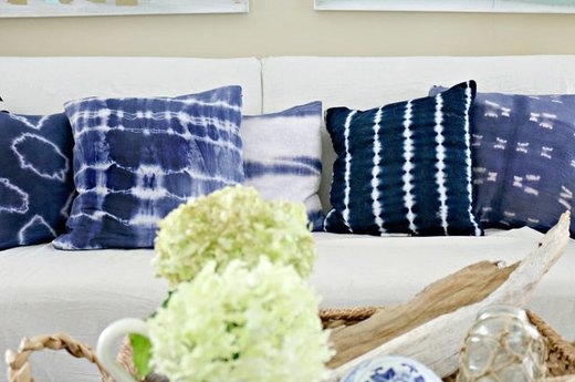 Add Tie-Dyed Throw Pillows to Your Sofa