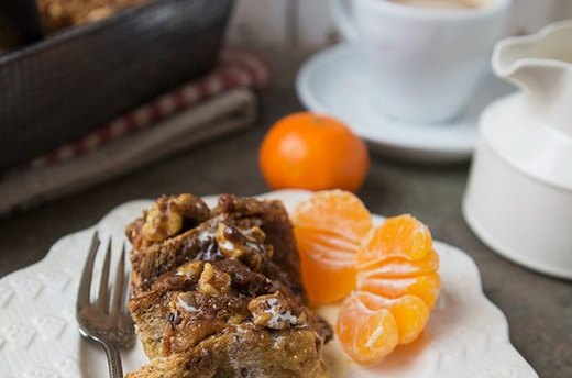 Cinnamon Roll French Toast Breakfast Bake