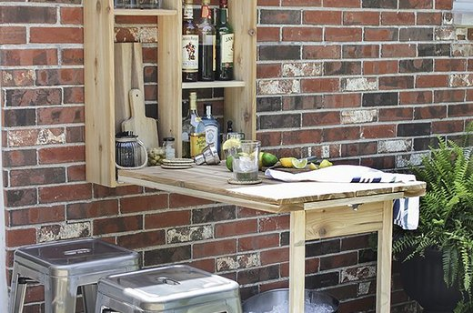 Save Space with This Patio Bar
