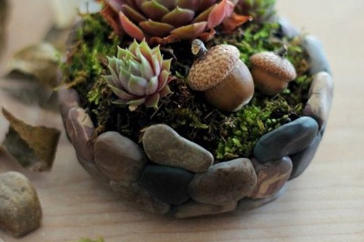 Faux Pebble Planter