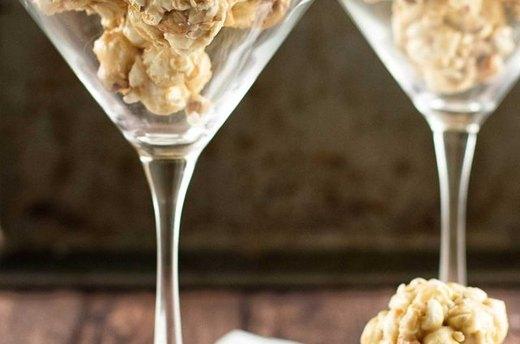 Nutty Caramel Mini Popcorn Balls