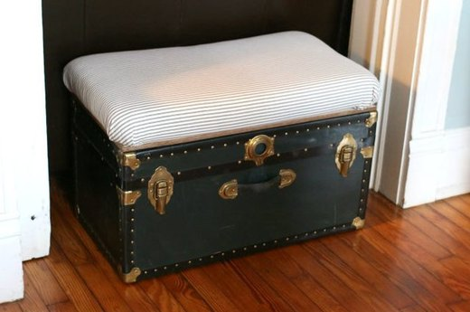 Repurpose a Storage Trunk Into a Bench & Coffee Table