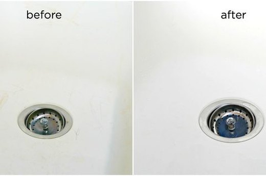 Remove Stains from White Sinks