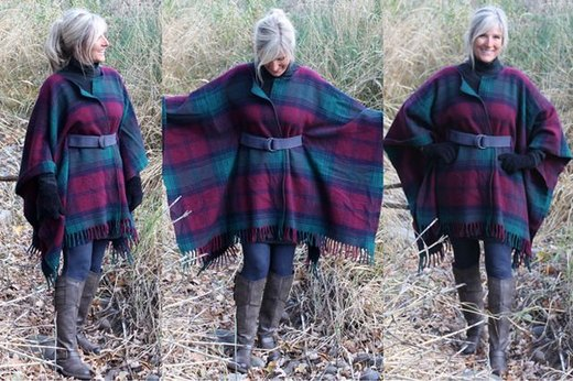 Wrap Up in Style in This Wool Blanket Coat