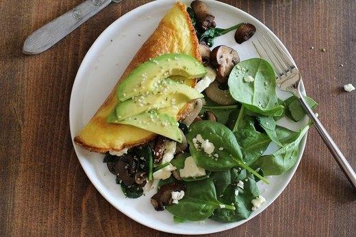 8 - Omega-3 Vegetarian Omelet Recipe