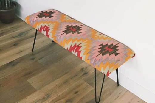 Take a Seat on a Rug Bench