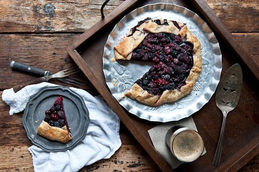 Chocolate Stout and Mixed Berry Galette