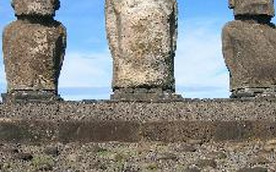 You will see the famous moai statues on tours of Easter Island.