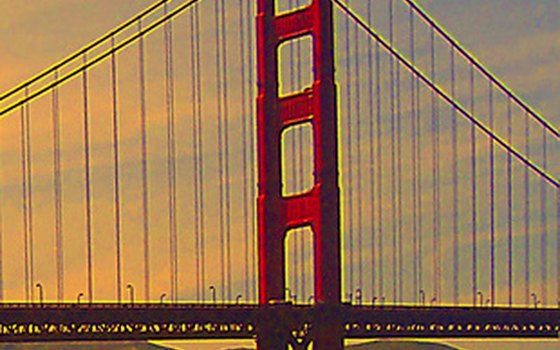 Sunsets at the Golden Gate Bridge are romantic and accessible.