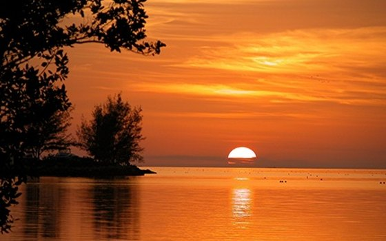 Campers staying in Key West can enjoy spectacular sunsets over the Atlantic Ocean.