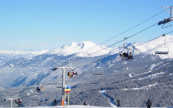 Winter skiing locations like Whistler, B.C., keep tourists flowing, despite the cold.