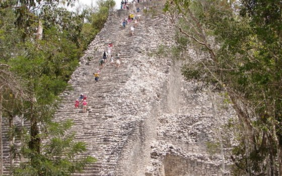 Coba is a major site deep in the jungle.