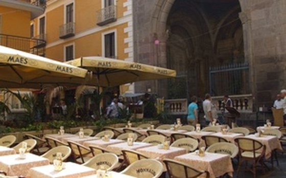 Having a drink in a scenic piazza is one of Sorrento's many charms.