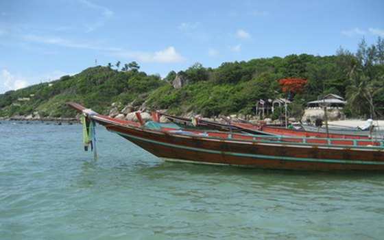 Longtail boats are a common sight on Thailand's beaches.