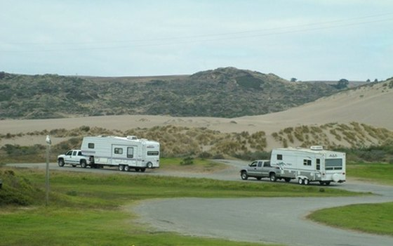 Campsites with electrical hookups are available.