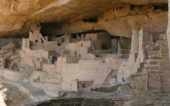 Cliff dwellings at Mesa Verde National Park.