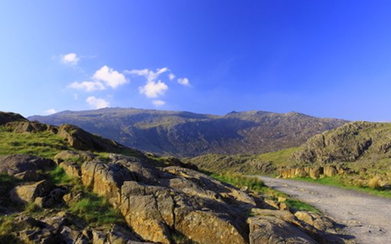 Roads in the Snowdonia region of Northern Wales offer scenic mountain vistas.