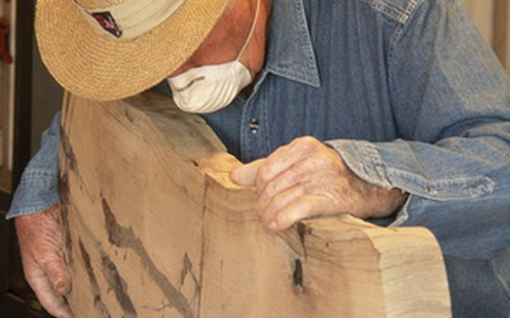 Woodworking is just one of many activities for RV Park residents.