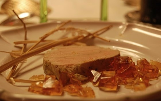 Foie gras is a traditional Christmas treat.