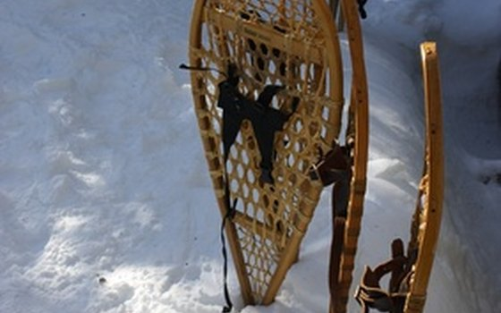 Snowshoe walks are popular in winter.
