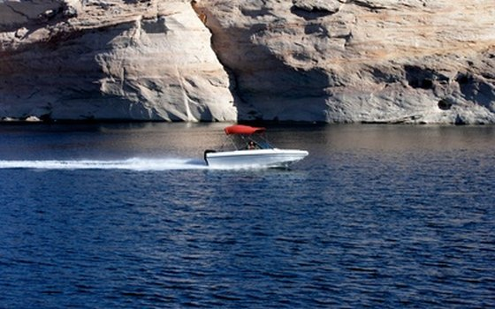 Boat in Topock Gorge