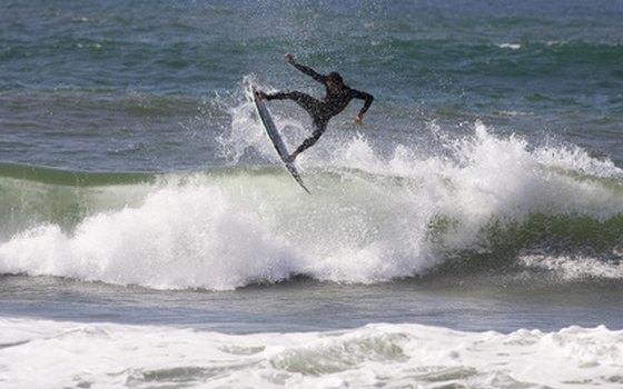Southern California coastal RV parks are a popular destination for surfers.