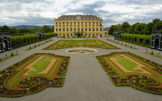 Schoenbrunn Palace in Vienna was the summer residence of the Hapsburgs.