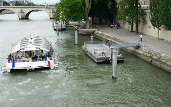 The Bateaux-Mouches are an excellent way to see Paris.