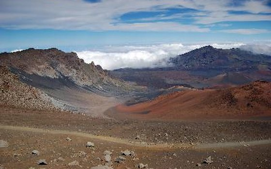 The shifting sands in Haleakala are most picturesque at sunrise.