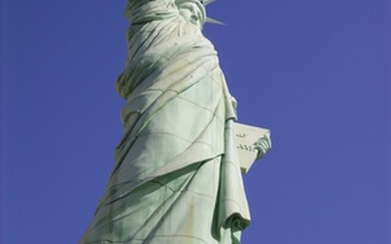 View the Statue of Liberty from your campsite at the Liberty Harbor RV park.