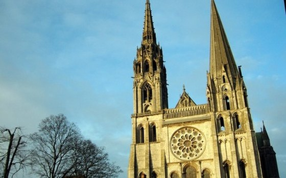 Chartres Cathedral has two towers.