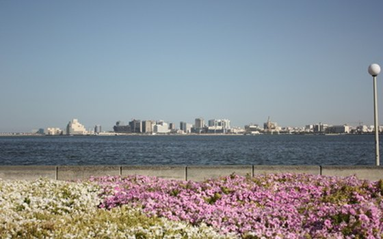 Doha, Qatar's capital, from a distance