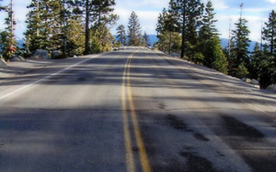The highways into Lake Tahoe are well maintained.