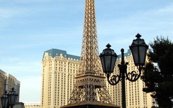 Ride to the top of the Las Vegas Eiffel Tower for an expansive view.