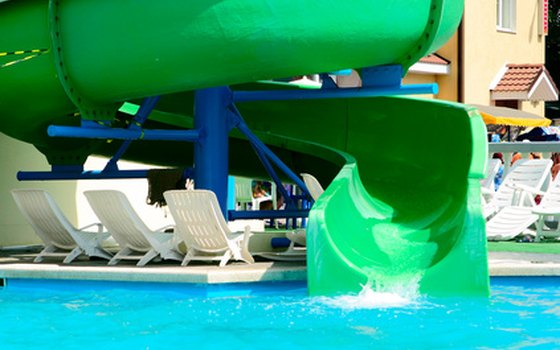 Jump on the water slide.