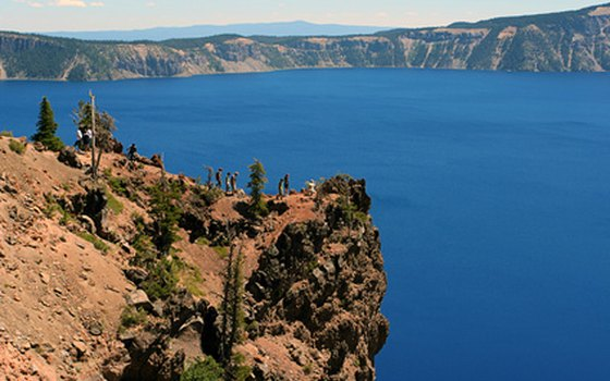 Crater Lake lies in a blasted caldera in Oregon's Cascade Range.